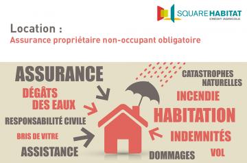 Location : Assurance propriétaire non-occupant obligatoire