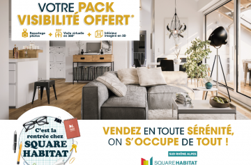 La rentrée avec Square Habitat - Pack visibilité offert